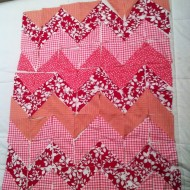 Pink Chevron Quilt:  A Work in Progress
