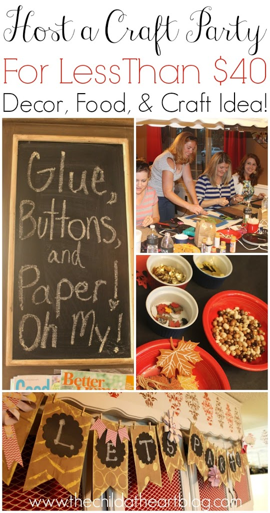 girls craft night ideas how to host a craft for less than 40 child at 4554