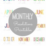Monthly Resolutions Printables