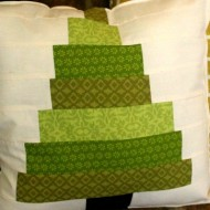 Scraps Christmas Tree Pillow