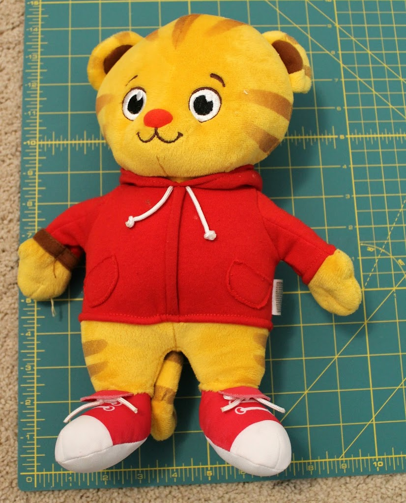 Daniel Tiger Stuffed Animal or Doll Sleeping Bag Sewing Tutorial