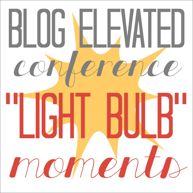 "Blog Elevated 2014 ""Light Bulb Moments"""