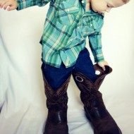 Daddy's Cowboy Boots Photo Gift Idea