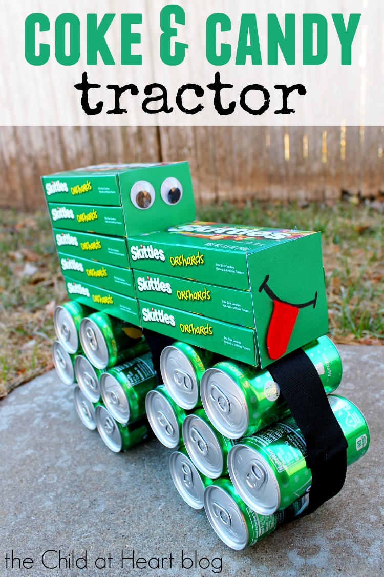 How To Make A Coke And Candy Tractor Child At Heart Blog