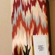DIY Chevron Ikat Canvas