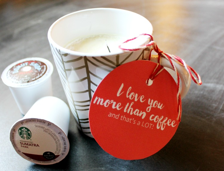 I Love You More Than Coffee...and That's A LOT!!  Printable Gift Tags and Candle Recipe:  Child at Heart