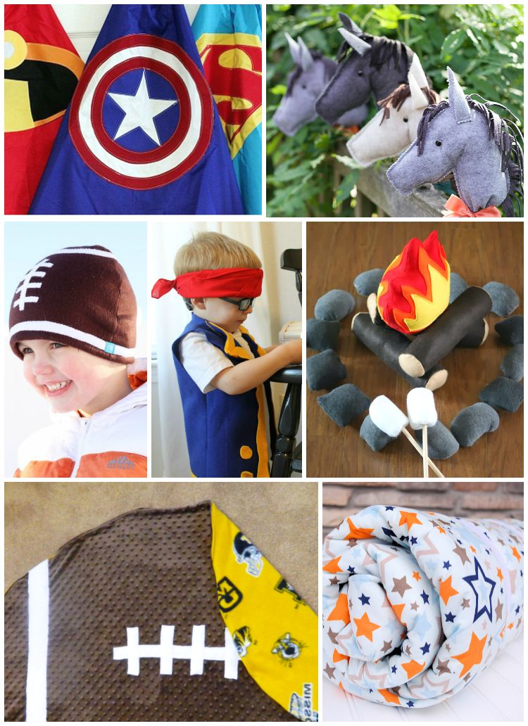 10 Easy Sewing Gift Ideas for Boys: the Child at Heart blog