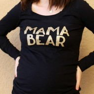 DIY Mama Bear Shirt with Cricut Glitter Iron On Vinyl