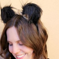 DIY Bear Ears Headband for Halloween