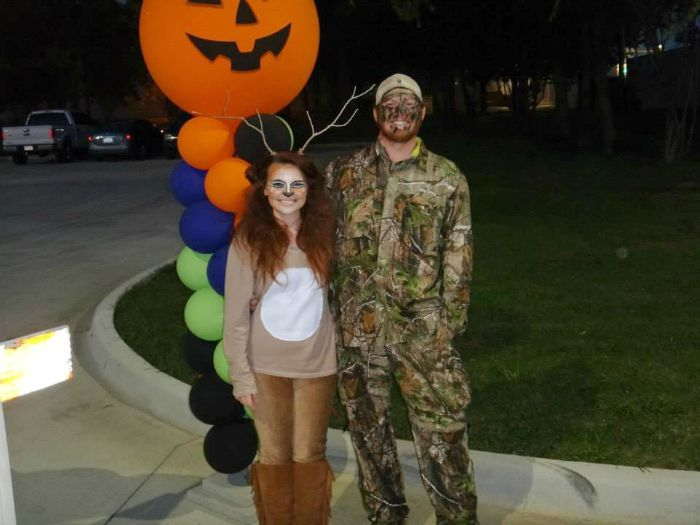 diy deer and hunter halloween costume idea child at heart blog