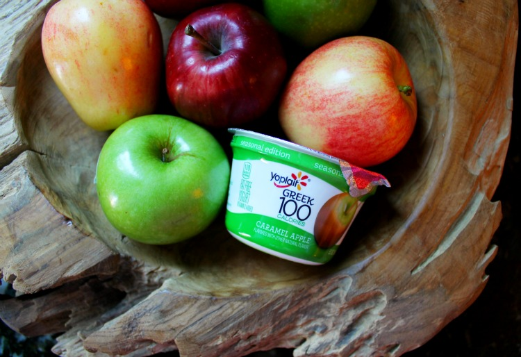 Caramel Apple Cheesecake Dip with Yoplait Greek 100 Caramel Apple Yogurt: Child at Heart Blog