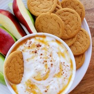 Caramel Apple Cheesecake Dip with Yoplait
