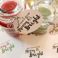 Washi Tape Santa Candle & Free Printable Gift Tags