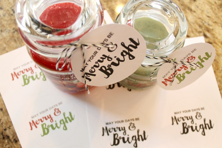 "Washi Tape Santa Candle and FREE ""Merry and Bright"" Printable Gift Tags: Child at Heart Blog"