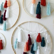 DIY Tassel Dreamcatcher Yarn Wall Art Tutorial