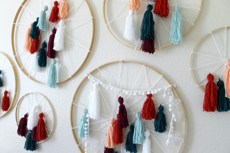 Diy Crafts For Baby Room: DIY Tassel Dreamcatcher Yarn Wall Art Tutorial