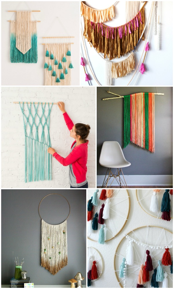 20 easy diy yarn art wall hanging ideas child at heart blog for Wall decoration ideas pinterest