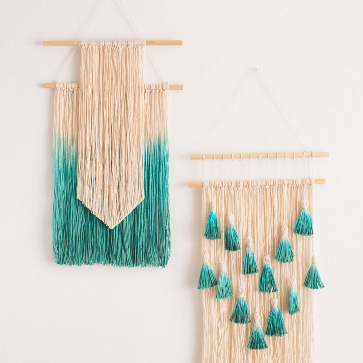 20 Easy DIY Yarn Art Wall Hanging Ideas - Child at Heart Blog