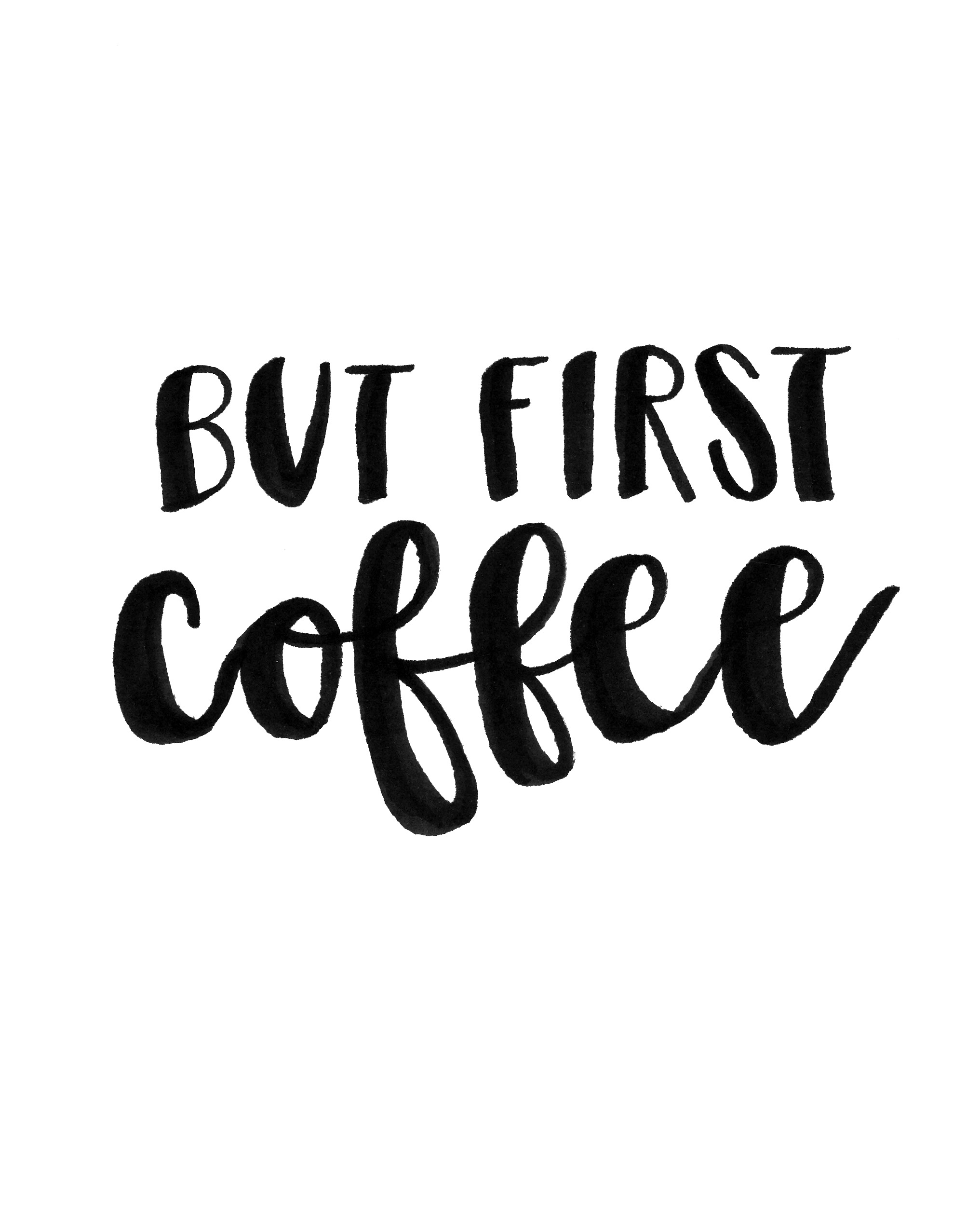 But First Coffee But First Tea Free Print