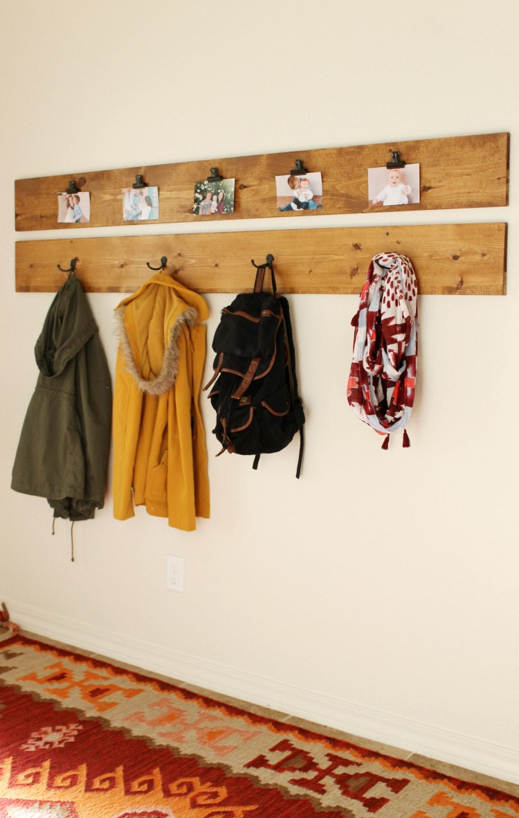 DIY Coat Rack and Picture Display under $40 - Child at Heart Blog