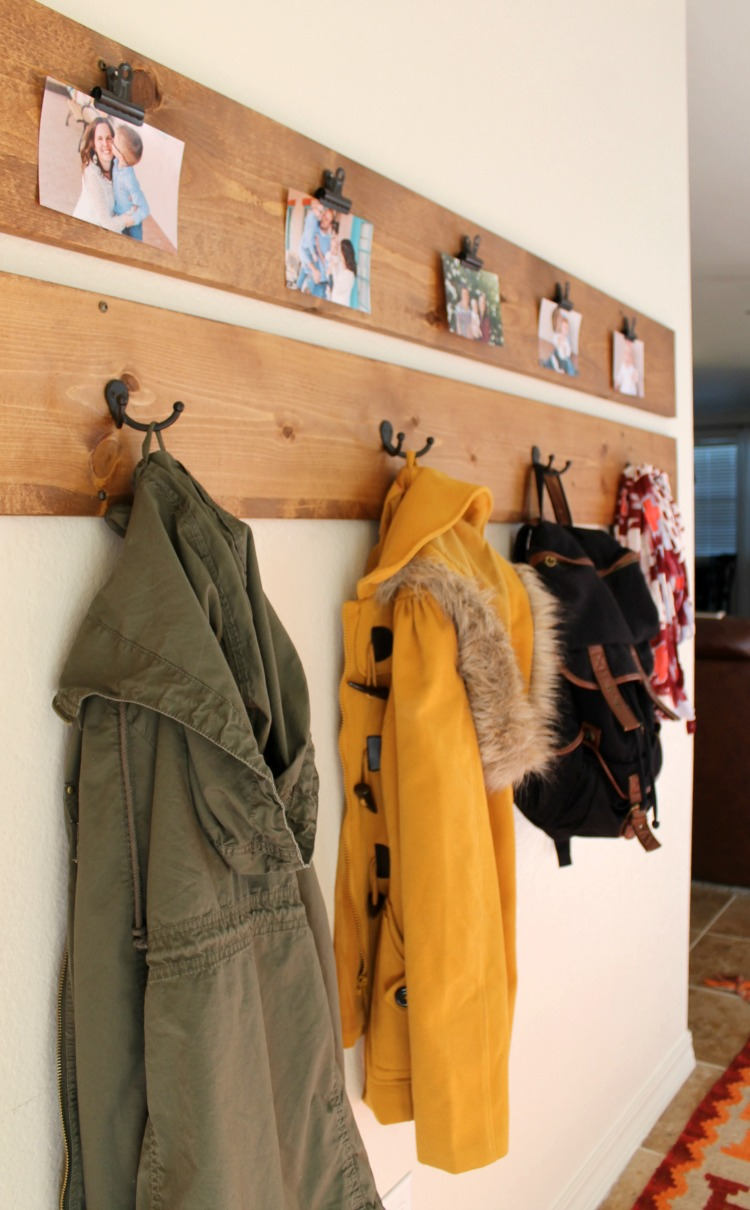 Diy Coat Rack And Picture Display Under 40 Child At