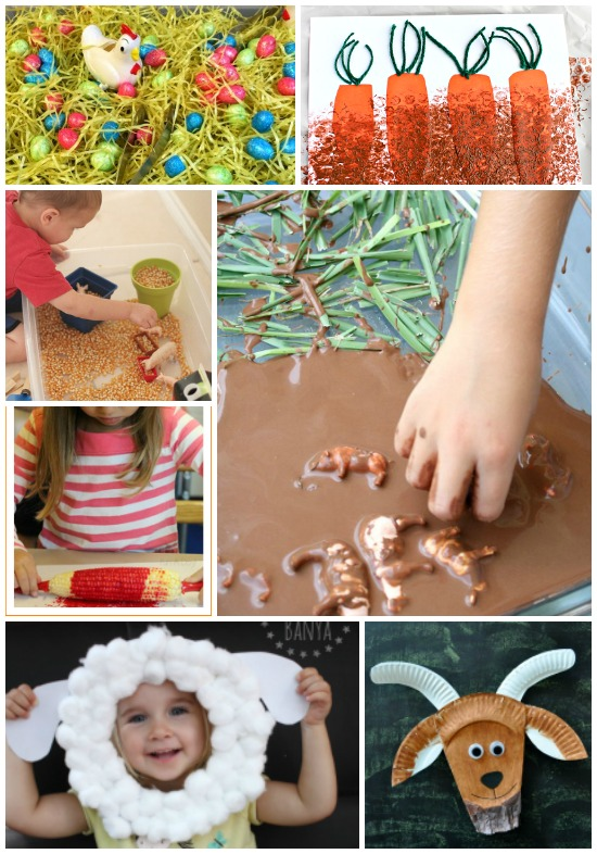 Farm Animal Crafts, Games, and Sensory Activities for Kids: Child at Heart Blog
