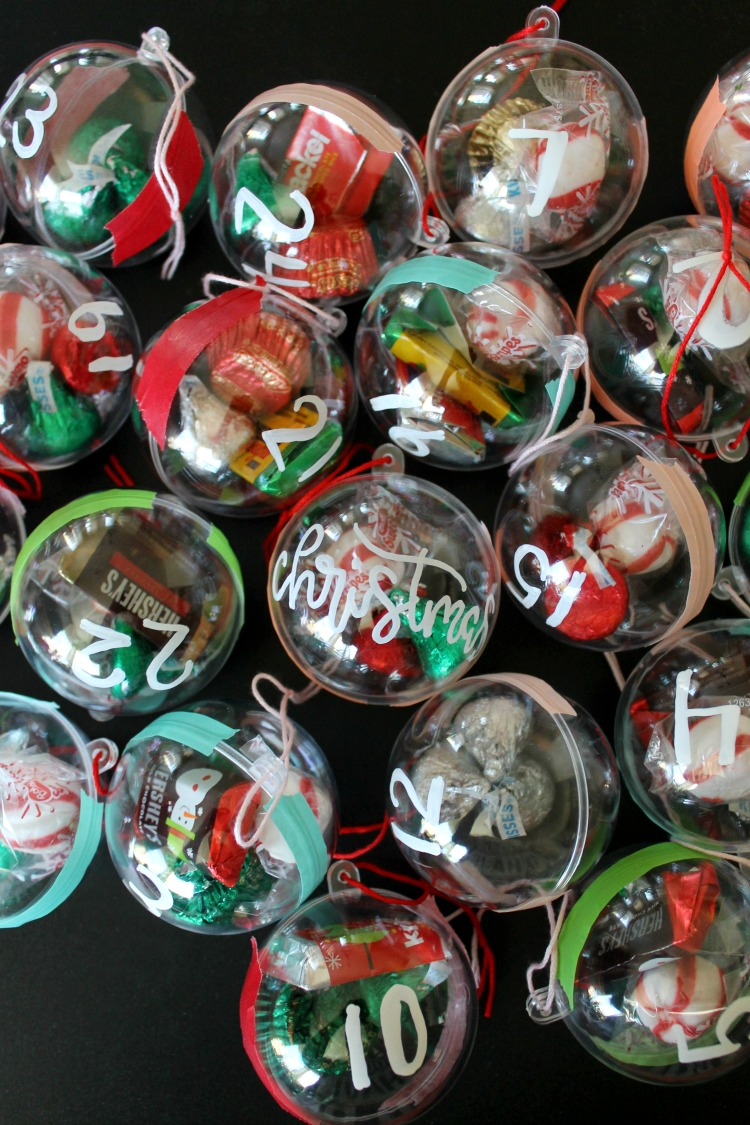 Advent Calendar Ideas Not Chocolate : Candy ornament diy advent calendar for kids child at
