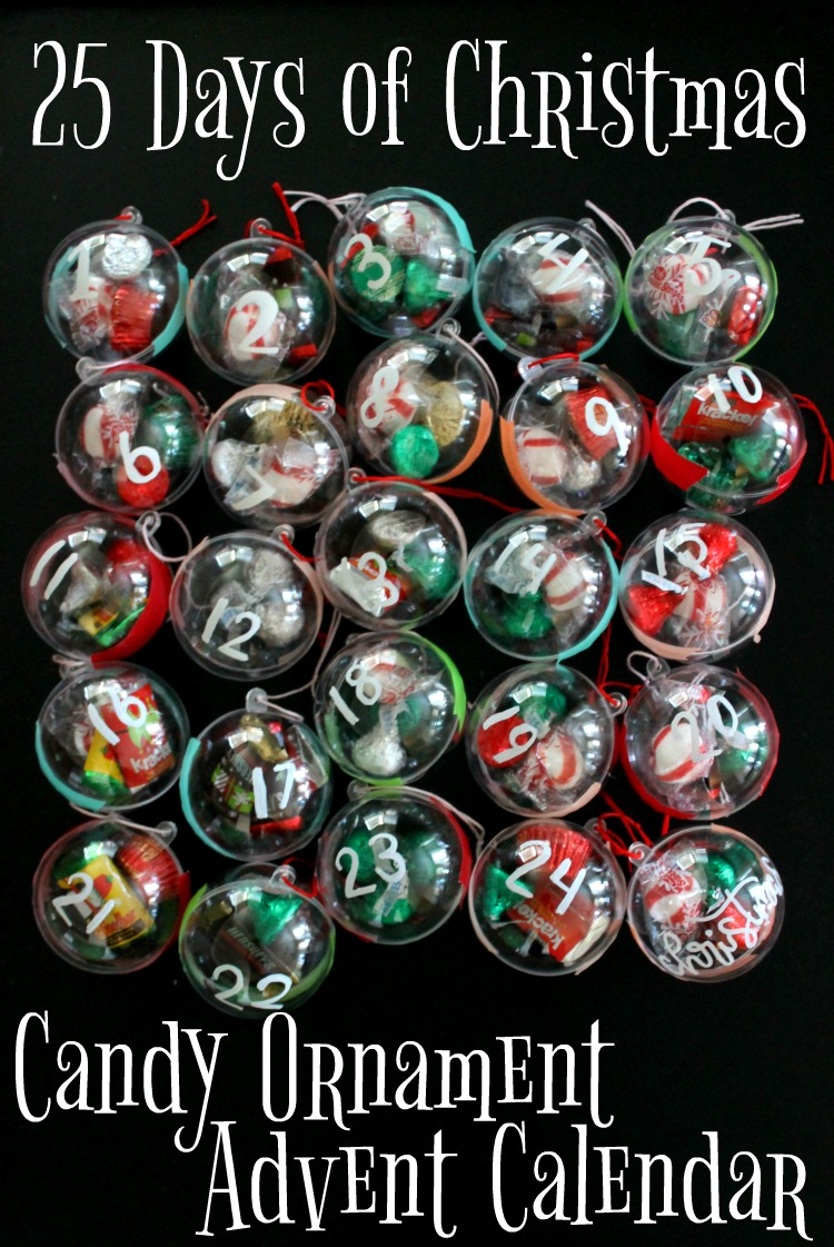 Candy Christmas Ornament DIY Advent Calendar Craft Idea for Kids: Child at Heart Blog