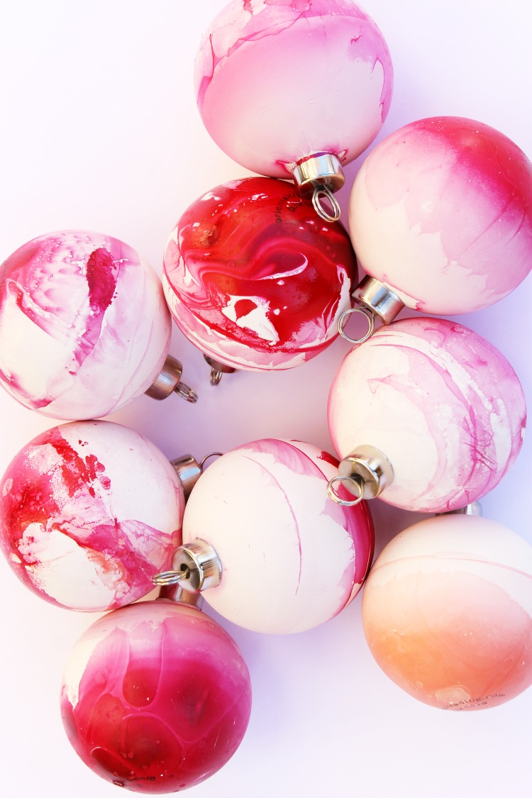 Diy Boho Marbled Christmas Ornament Crafts For All Ages
