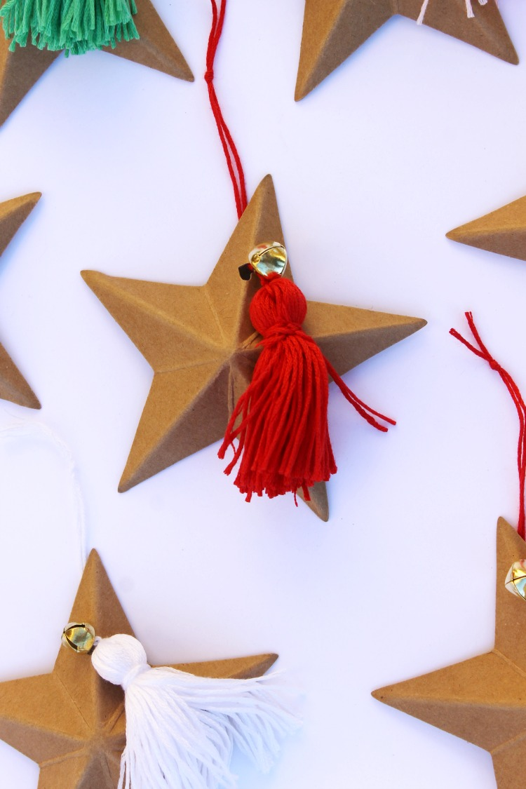 Star and Tassel DIY Ornament Craft Idea: Child at Heart Blog