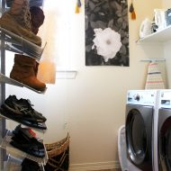 How to Organize Shoes in the Laundry Room or Mud Room