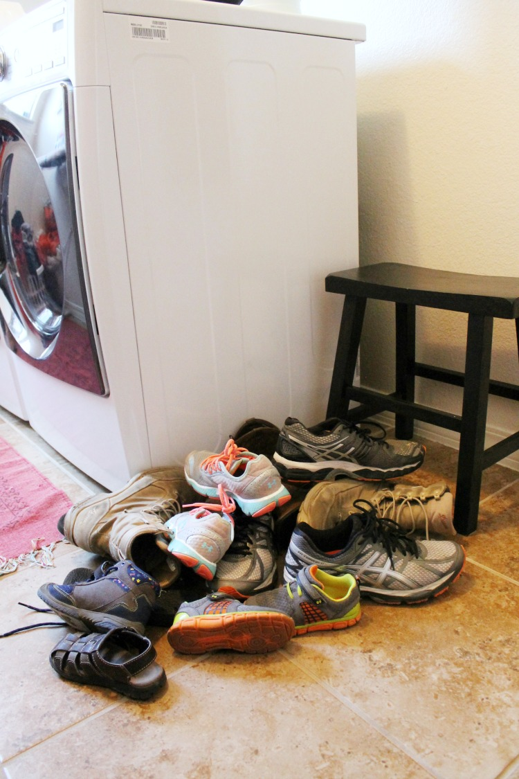 How To Organize Shoes In The Laundry Room Or Mud Room Child At Heart Blog