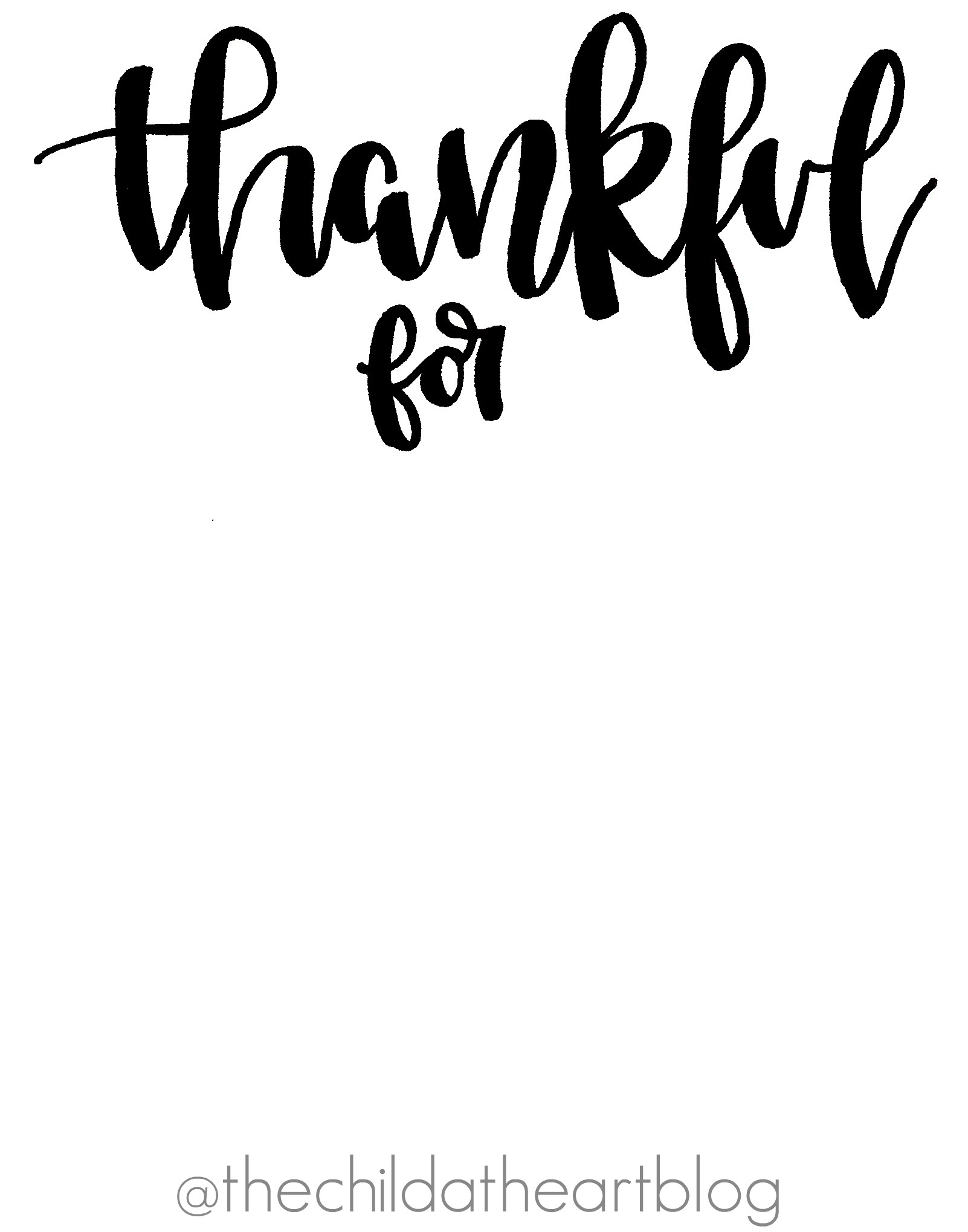 graphic regarding Thankful Printable identified as Grateful For\
