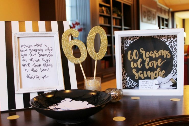 Black White And Gold 60th Birthday Party Decorating Game Ideas The Child At Heart