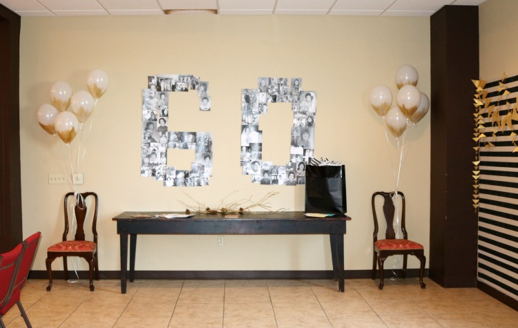 Black White And Gold 60th Birthday Party Ideas Child At