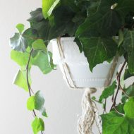 Plastic Nursery Hanging Planter DIY Makeover