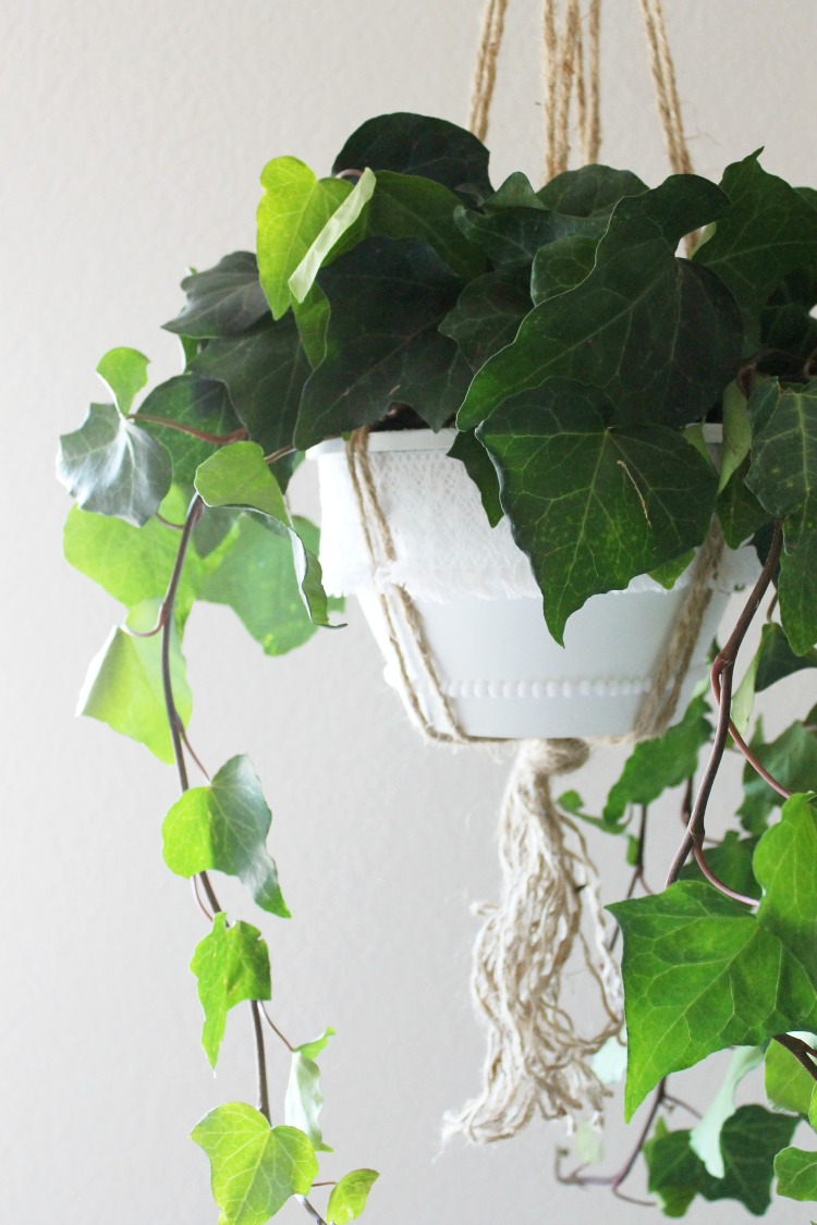 Plastic Hanging Planter DIY Boho Makeover: the Child at Heart blog