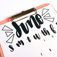 FREE Hand-Lettered June Printable Calendar