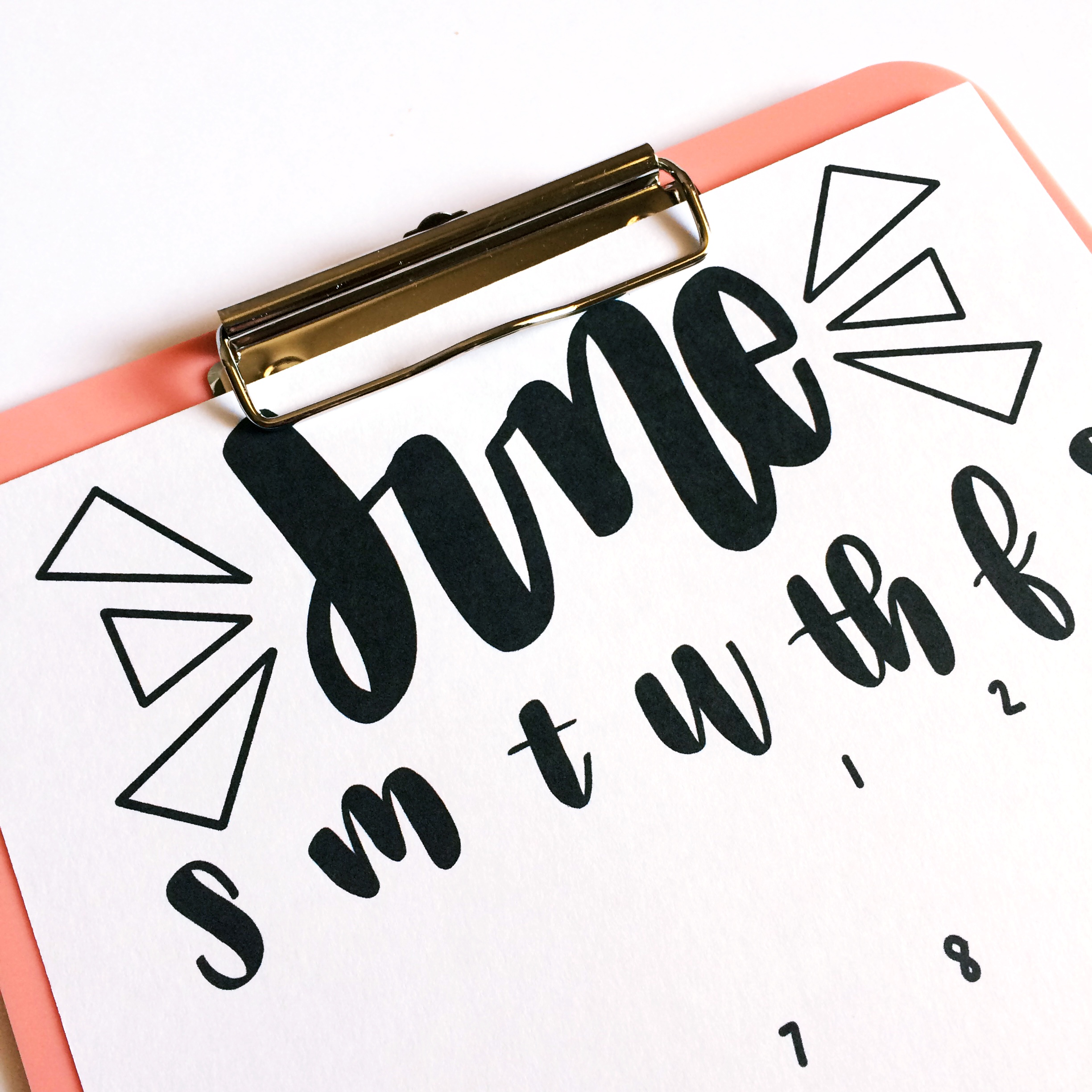 FREE Hand Lettered June Printable