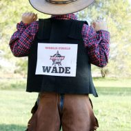 DIY Rodeo Cowboy Bull Rider Halloween Costume Idea + Printable Tag