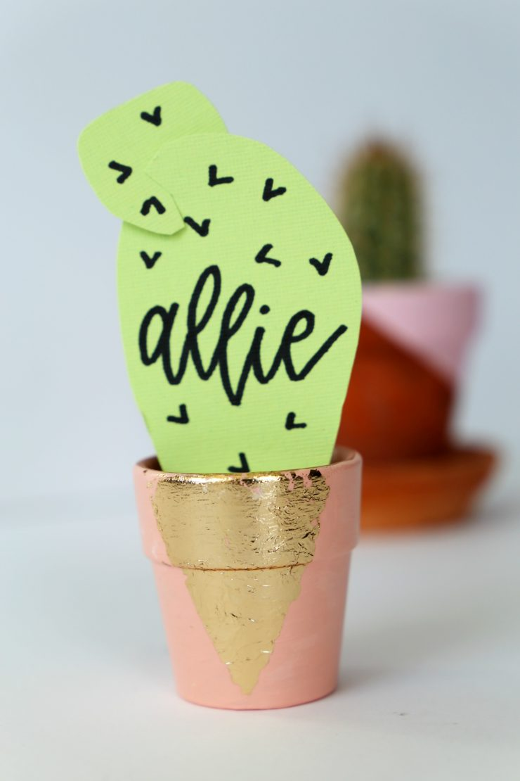 Paper Cactus Place Cards Tutorial: the Child at Heart blog