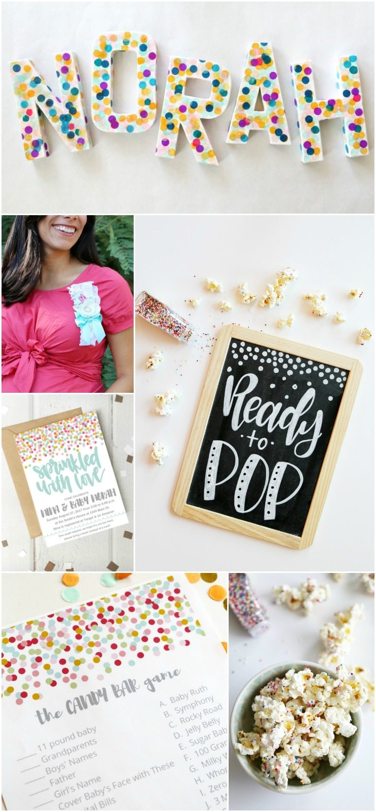 Sprinkle Baby Shower Ideas, Printables, and Games: the Child at Heart blog