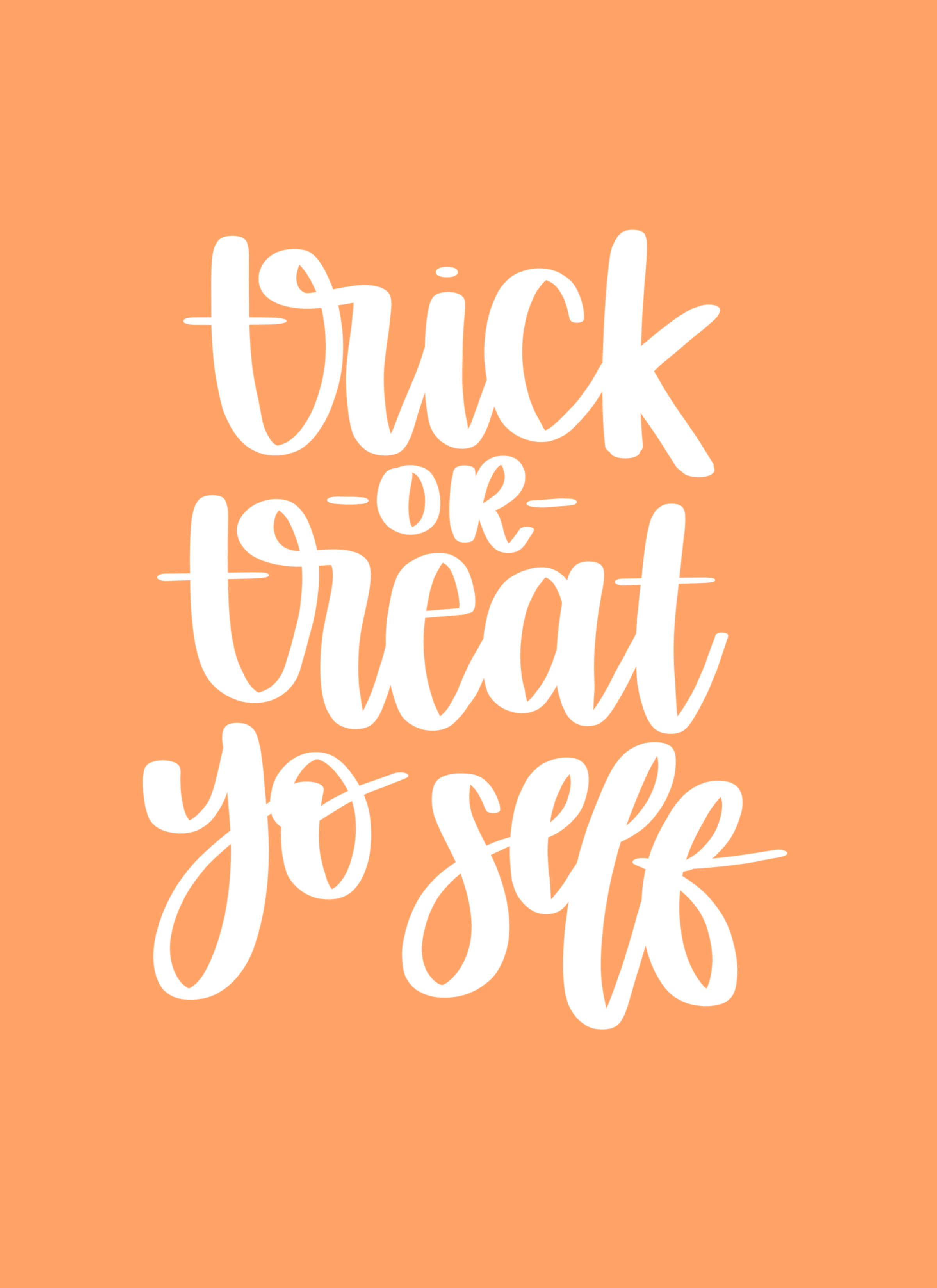 Trick or Treat Yo Self Free Halloween Printable