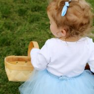 Easy DIY Dorothy Wizard of Oz Baby Costume Idea