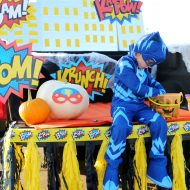 Superhero Halloween Trunk or Treat Ideas + DIY Skyline