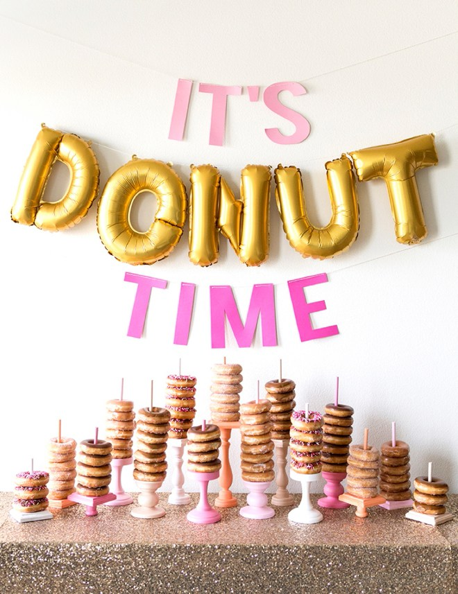 DIY Donut Party Ideas, Printables, and Decor