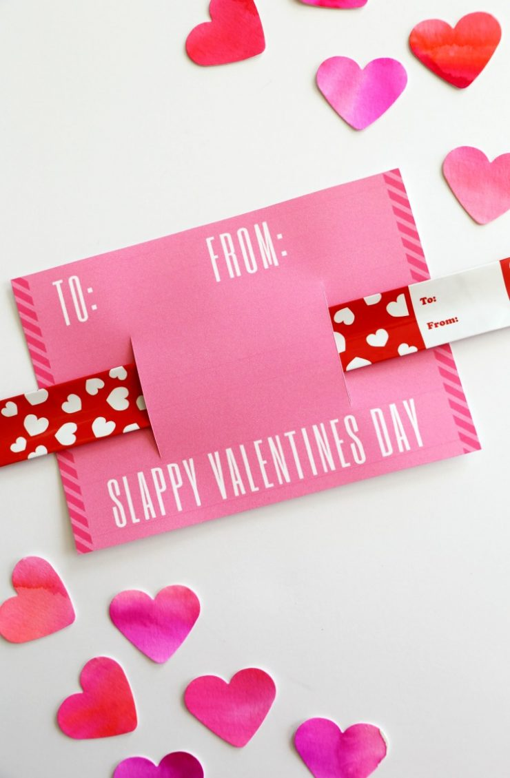 valentine slap blog card bracelet printables at printable child heart free
