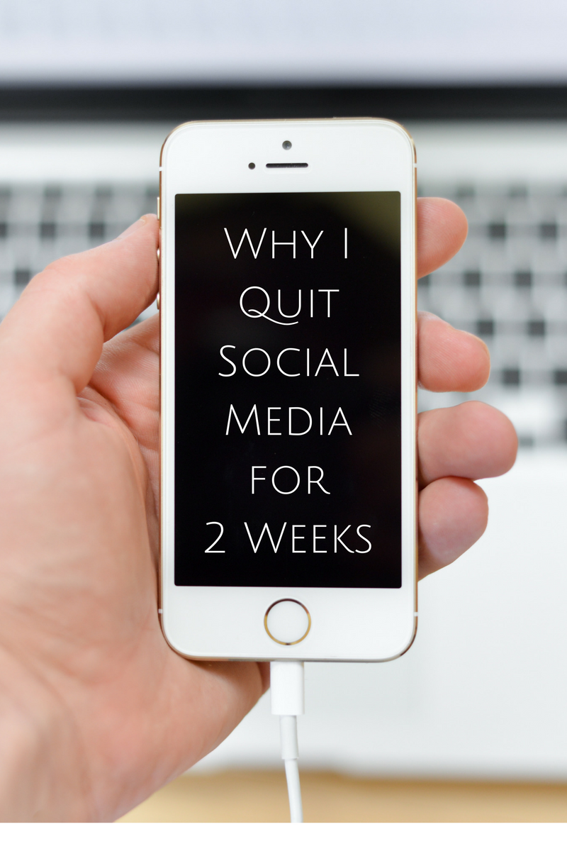 Why I Quit Social Media for 2 Weeks Text on an Iphone