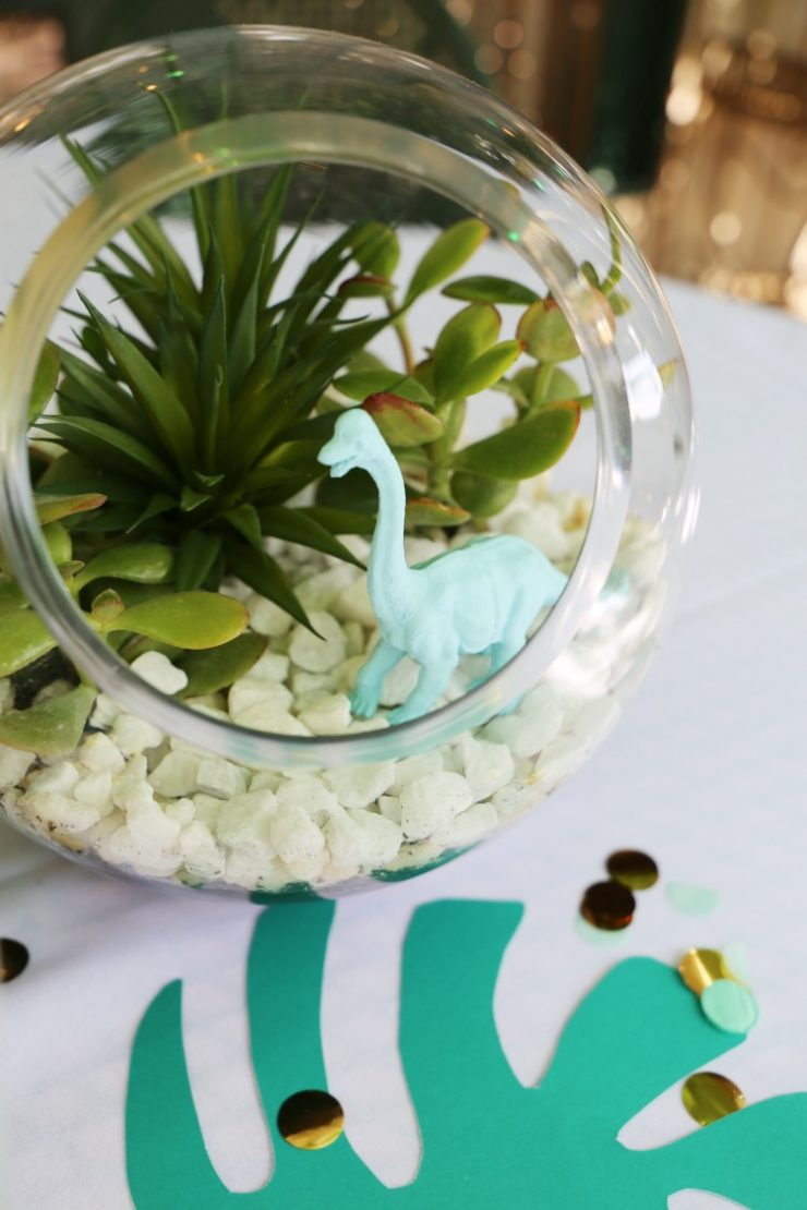 How to make a Dinosaur Terrarium Garden from the Child at Heart blog