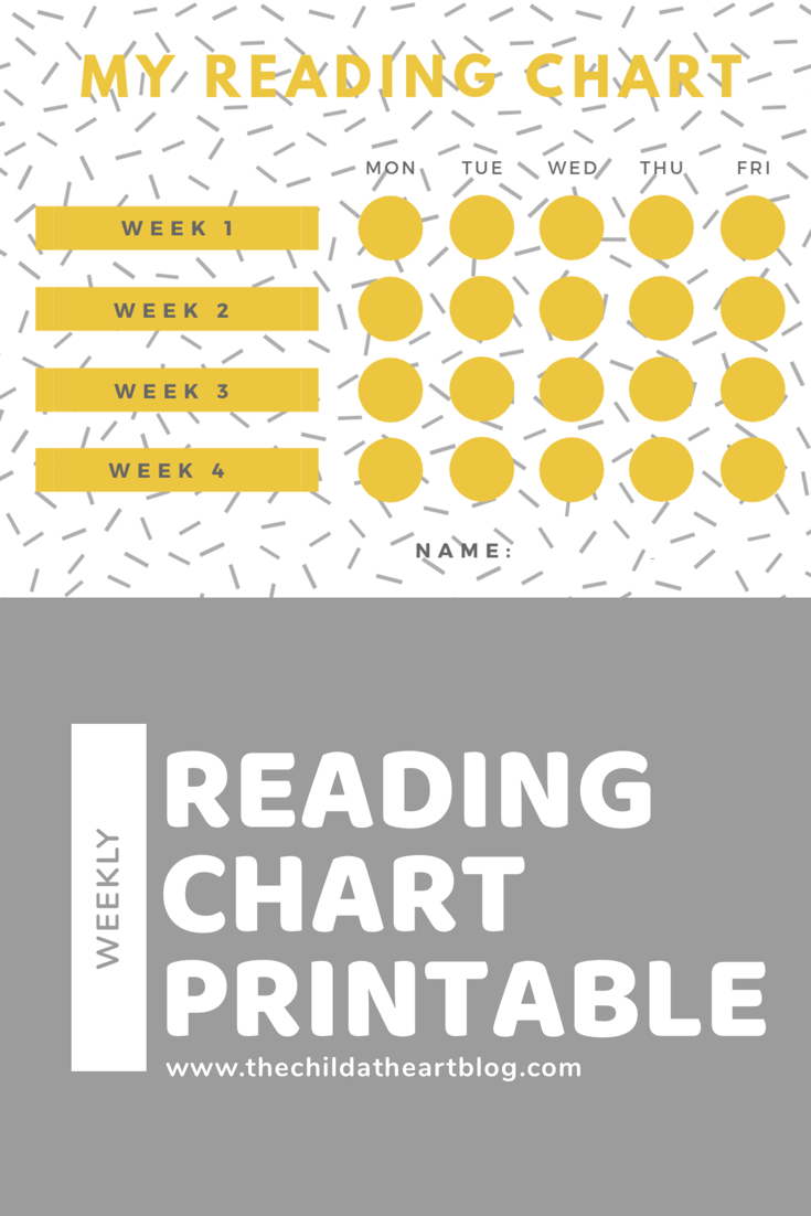 Weekly Reading Chart Printable for Kids
